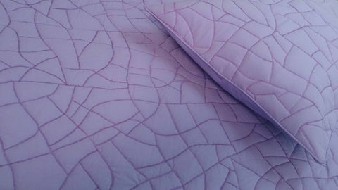 cotton bedspread light purple plum abstract brick pattern quilt King size bedspread bedding coverlet  contemporary quilt modern bedspread - TATVAKALA Home