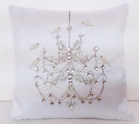 chandelier bird pillow