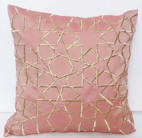 peach taffeta silk pillow