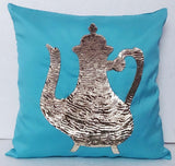 Blue Pillow Accent Pillow -16x16 inches - TATVAKALA Home