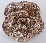 "gold sequins rose glamour  pouf/cushion/pillowin the size 18""x18"",decorative handmade pillow,bed pillow,home decor,acent pillow,homefashion - TATVAKALA Home"