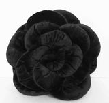 black rose flower pillow-18x18 inches - TATVAKALA Home