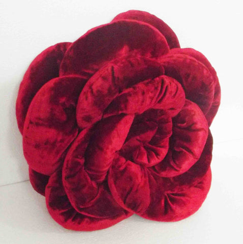 red rose flower pillow-18x18 inches - TATVAKALA Home