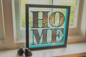 New Reverse Painted Glass Sign Art