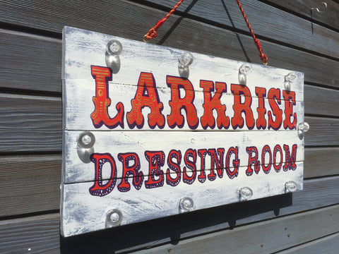 Hand painted light up signs for business, logo signs, reclaimed wood signs