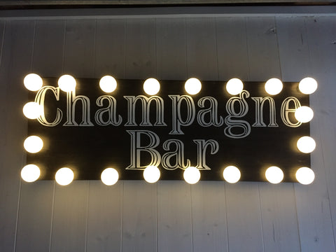 Champagne Bar Sign, Light up Custom Signs for Weddings, Events and Parties, Reclaimed Wood, Hand Painted Signs