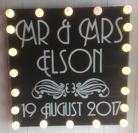 Wedding Signage, hand painted light up wedding signs, custom painted signs on wood, wedding decor, wedding styling