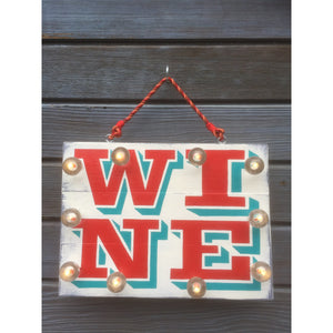 Light up Wine Sign, Light Up Wall Art, Wine Lover Sign, Reclaimed Wood Art, Wine Gift, Wine Wall Hanging, hand painted wood sign by Sweetheart Darling