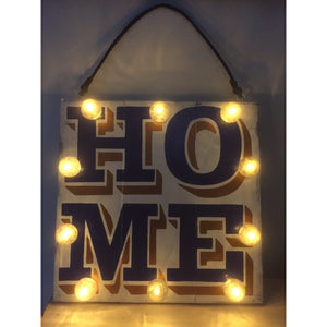 Light Up Home Sign, Custom Signs, Hand Painted Wood Sign, Kitchen Wall Decor, New Home Gift, Housewarming Gift, Reclaimed Wood Art