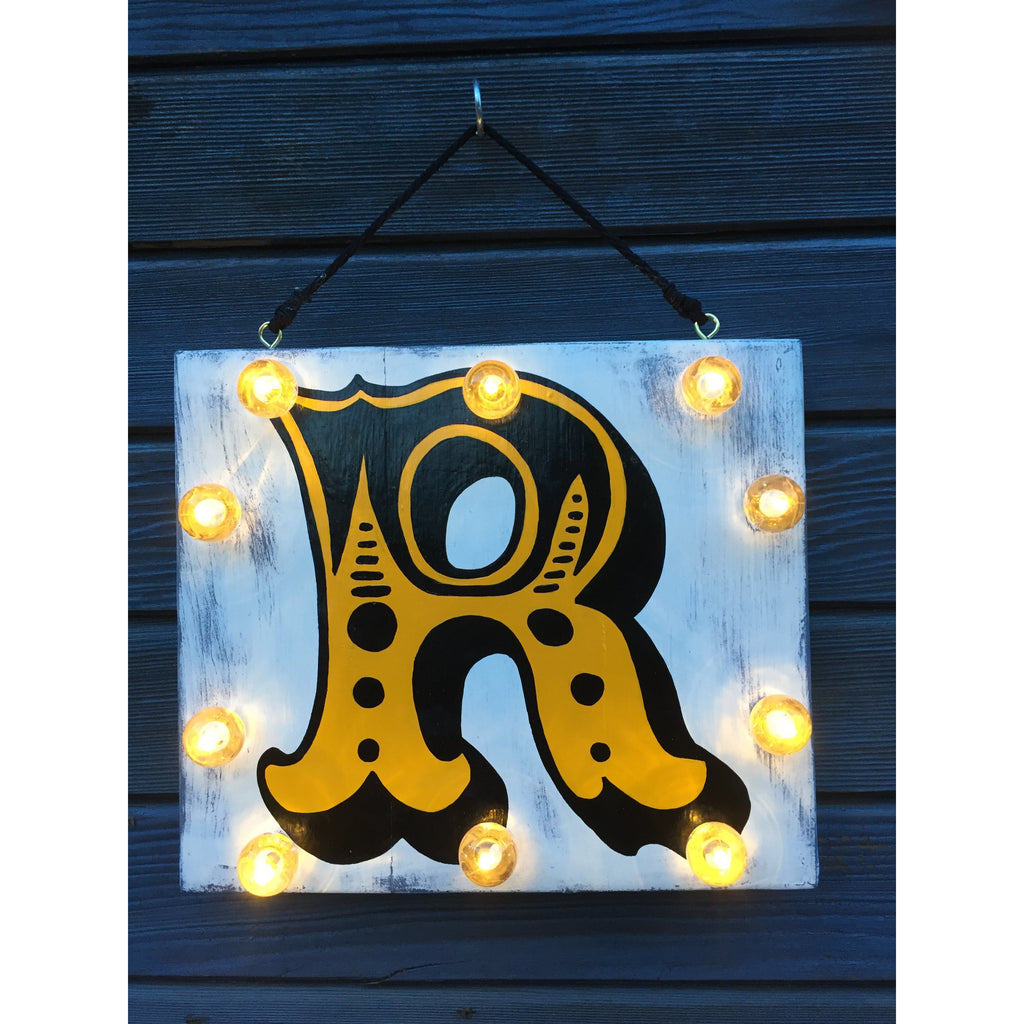 Light up Letters, Circus Style Light Up Signs, Hand Painted Signs, Reclaimed Wood Art, Alphabet Letters, Light up Signs, Playroom Decor, Personalised Gifts, Children's Decor, Gifts for Kids