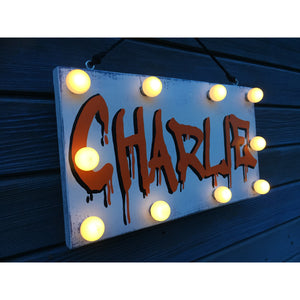 Light up Name Signs, door plaque, playroom decor, christening gift, personalised night light, Nursery decor, gifts for children