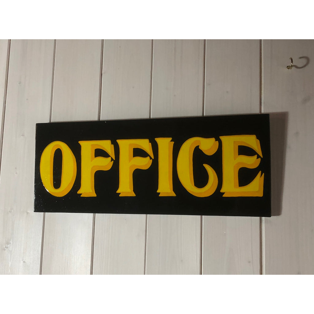 Office Door Plaque, Office Sign Art, Wall Art, Reclaimed Wood Art, Christmas Gift for Interiors, Office Interiors, Hand Lettering, Sign Writing, Custom Signs, Personalised Art, Wood Art
