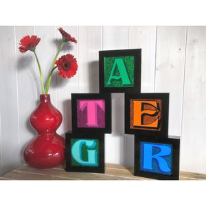 Alphabet Art, Letter Sign Art, Hand Painted Letters, Wedding Gifts, Playroom Decor, Monogram Personalised Gifts