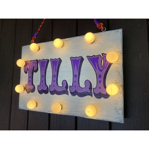Light Up Name Sign Circus Style