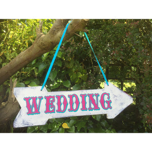 Rustic Wedding Arrow Sign