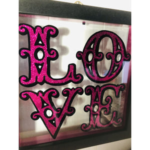 Framed Love Sign Art