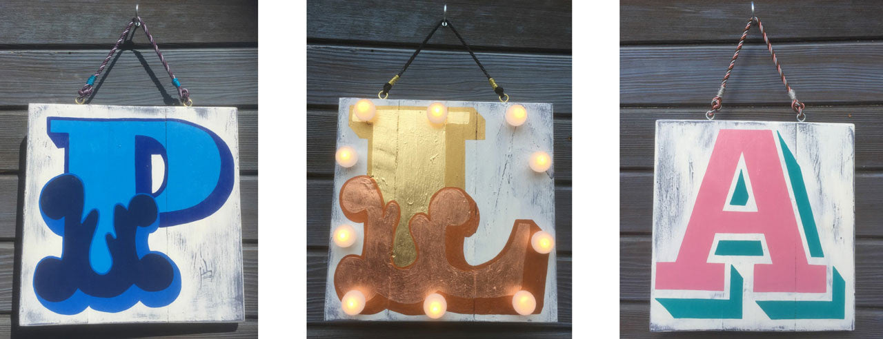 Custom Light Up Alphabet Signs