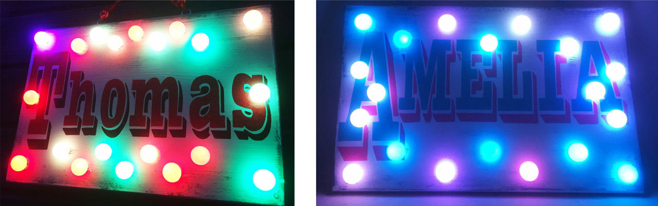 Custom Light Up name Signs