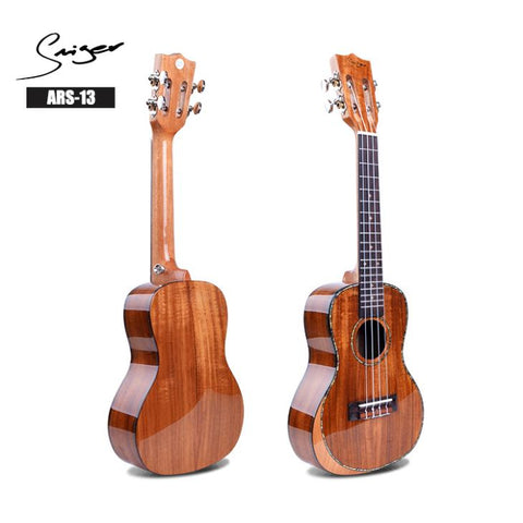 Smiger concert arm-rest solid Koa top ukulele