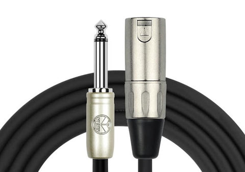 Kirlin 6 meter microphone cable 6.3mm mono jack to XLR male or female XLR