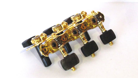 Alice classic guitar machine heads Gold with Ebony Heads