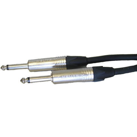 "Roxtone 10 meter instrument cable with neutrik 1/4 "" jacks."