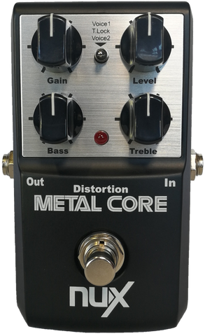 Nux Metal Core Distortion Effect Pedal