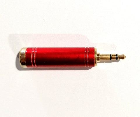 Cyberdyne 3.5mm stereo male to 6.35mm stereo female adaptor(Pro-gold red)