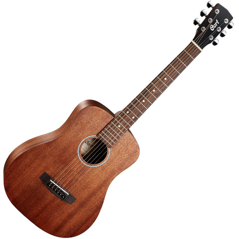 Cort acoustic travel guitar mahogany includes bag