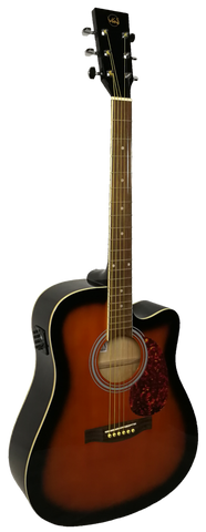 Gewa acoustic / electric guitar cutaway sunburst guitar. VGS D-10CE - ON SPECIAL