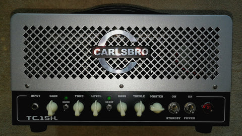 Carlsbro 15 watt full valve electric guitar amplifier and cabinet