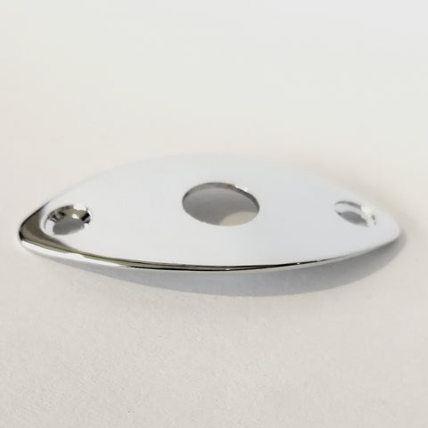Telecaster Style Oval Jack Plate Chrome (Code MS-P16)