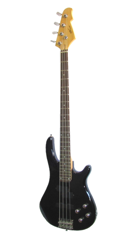 Maxwell Precision Jazz bass guitar- black or dark blue