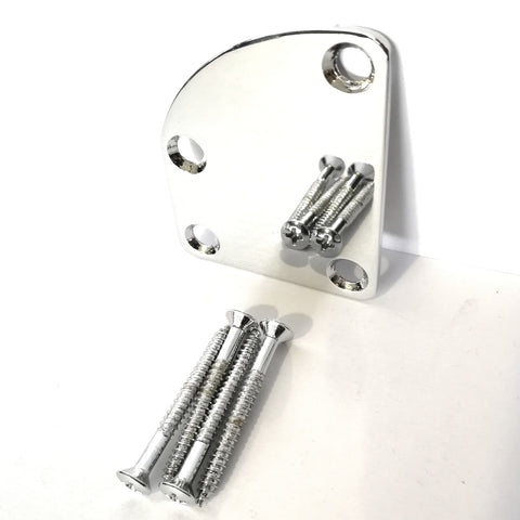 Plate curved neck joint chrome Dr parts available in chrome and Black