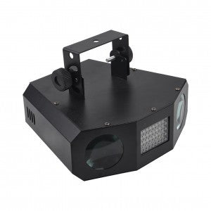 Hybrid two beam & strobe effects light