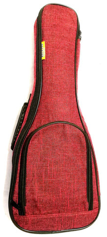 Concert ukulele padded bag red