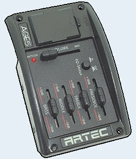 Artec 4 band EQ with status switch, pickup and battery- AR-AGE-5