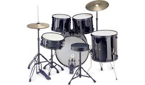 BK 5 piece drum kit including cymbals and throne.