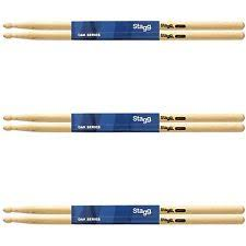 Stagg Drumsticks Maple and Oak in 5A, 7A, 5AN and 7AN