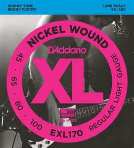 D'Addario 4-String Electric Bass Nickel Wound Strings