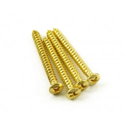 Neck screws set of 4 available in chrome and gold