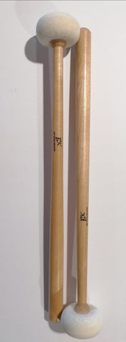 BK Red Felt Mallet sold per Each or pair of timpani  felt , hard or soft/tenor drum