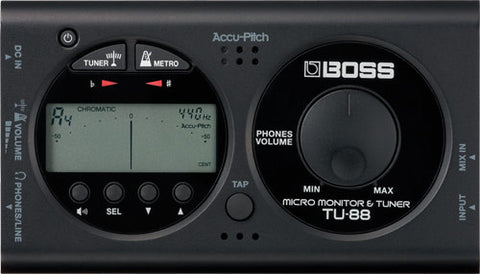 Boss micro monitor and tuner TU-88BK Special Price
