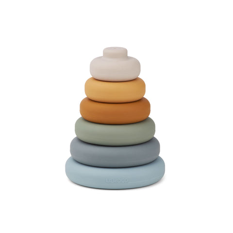 Liewood Dag Stacking Tower Toys 6911 Blue multi mix