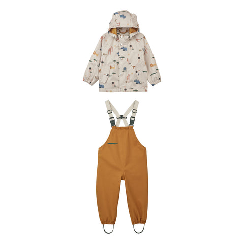 Liewood Dakota Rainwear - Mini - Safari sandy mix - Rainwear