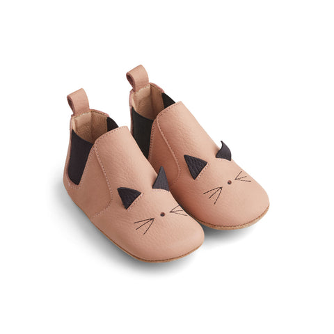 Liewood Edith Leather Slippers Shoes 0022 Cat rose
