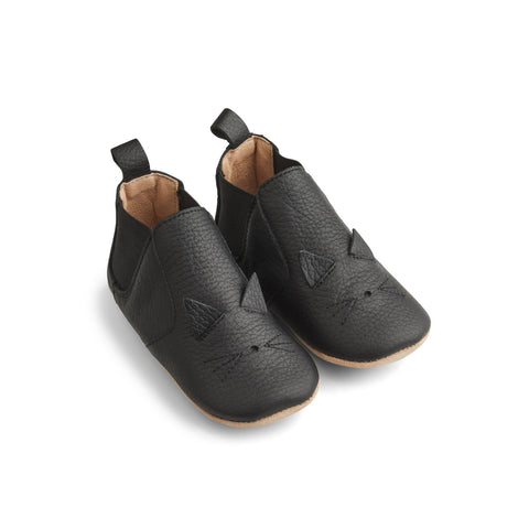 Liewood Edith Leather Slippers Shoes 0026 Cat black