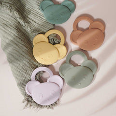 Gemma Silicone Teether - Mouse peppermint