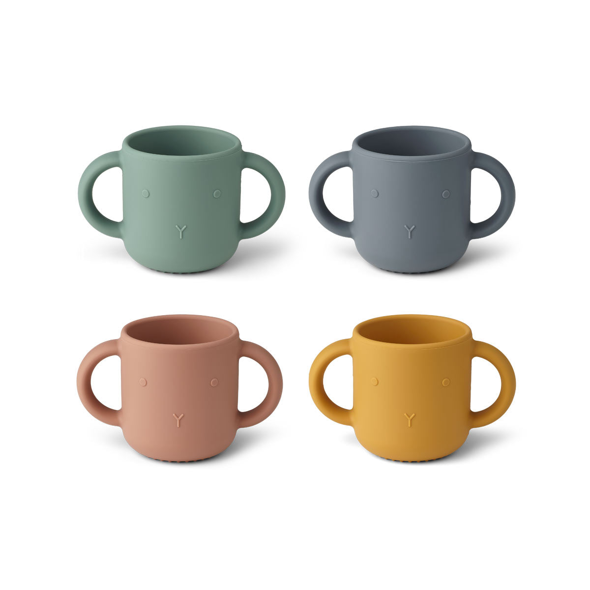 Liewood Gene Cup 4 Pack - Rabbit multi mix - Tableware