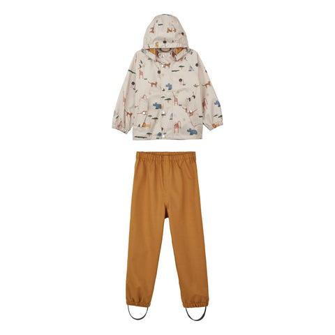 Liewood Parker Rainwear - Junior - Safari sandy mix - Rainwear